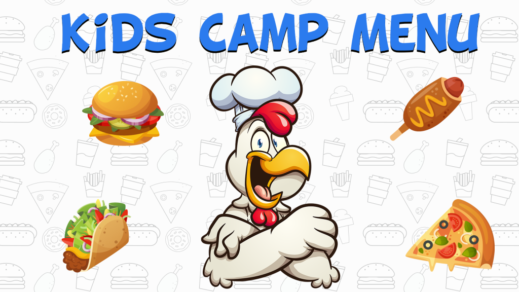 Spencer Lake Kids Camp Menu