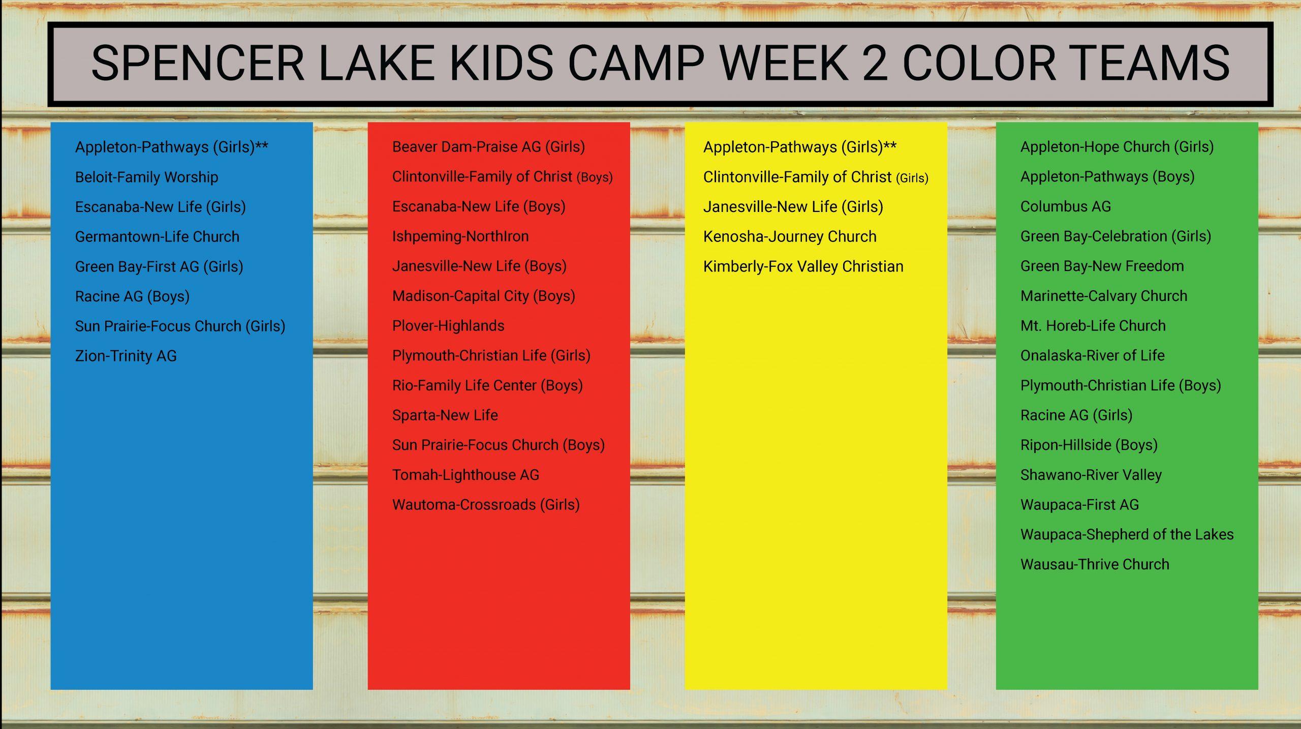 Week 2 Color Teams_Churches